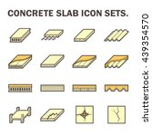 concrete slab vector icon sets... | Shutterstock .eps vector #439354570