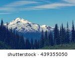 glacier peak at sunrise ... | Shutterstock . vector #439355050