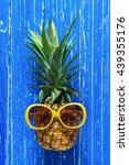 pineapple with yellow... | Shutterstock . vector #439355176