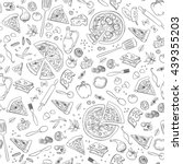 pizza seamless pattern. useful... | Shutterstock .eps vector #439355203