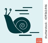 snail icon isolated. snail...