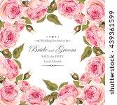 vintage wedding invitation | Shutterstock .eps vector #439361599