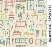 vintage vector seamless pattern ... | Shutterstock .eps vector #439363954