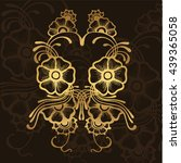 vector illustration of golden...   Shutterstock .eps vector #439365058