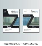 leaflet brochure flyer template ... | Shutterstock .eps vector #439365226