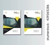 leaflet brochure flyer template ... | Shutterstock .eps vector #439365286