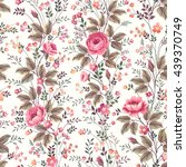 seamless floral rose pattern on ... | Shutterstock .eps vector #439370749