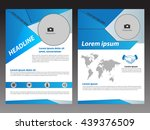 blue vector  brochure flyer... | Shutterstock .eps vector #439376509
