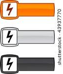 warning  web button. vector... | Shutterstock .eps vector #43937770