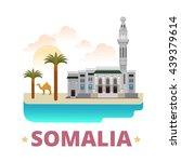 somalia country magnet design... | Shutterstock .eps vector #439379614