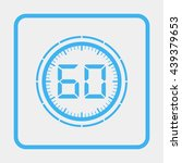 electronic timer 60 seconds. | Shutterstock .eps vector #439379653