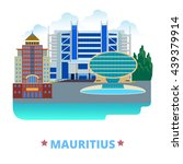 mauritius country design... | Shutterstock .eps vector #439379914