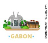 gabon country design template....   Shutterstock .eps vector #439382194