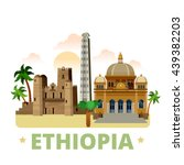 ethiopia country flat cartoon... | Shutterstock .eps vector #439382203