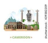 cameroon country design... | Shutterstock .eps vector #439382209