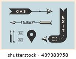 set of vintage arrows and... | Shutterstock .eps vector #439383958