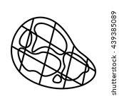 steak icon  outline style | Shutterstock .eps vector #439385089