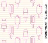 ice cream vector seamless... | Shutterstock .eps vector #439388260