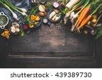 organic harvest vegetables from ... | Shutterstock . vector #439389730
