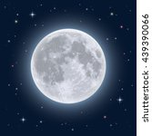 Realistic Full Moon. Detailed...