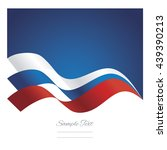 russia abstract ribbons flag... | Shutterstock .eps vector #439390213