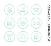 fitness line icons  thick... | Shutterstock .eps vector #439394830