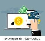 online and mobile payments.... | Shutterstock .eps vector #439400578