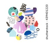 trendy creative collage with... | Shutterstock .eps vector #439401220