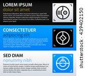modern web design template with ... | Shutterstock .eps vector #439402150