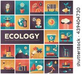 set of modern vector ecology ... | Shutterstock .eps vector #439404730