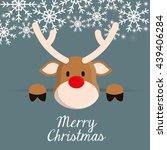 deer cartoon icon. merry... | Shutterstock .eps vector #439406284