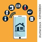 smart house design. technology... | Shutterstock .eps vector #439408804