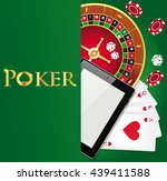 vector poker background with... | Shutterstock .eps vector #439411588