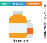 pills container icon. flat...
