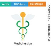 medicine sign icon. flat design....