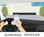 remote access via smartphone... | Shutterstock .eps vector #439415149