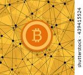 vetor modern concept of bitcoin ... | Shutterstock .eps vector #439415524