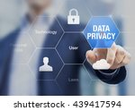 data privacy enable to protect... | Shutterstock . vector #439417594