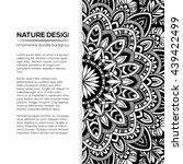 vector nature decor for your... | Shutterstock .eps vector #439422499
