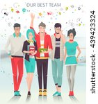 modern vector illustration  ... | Shutterstock .eps vector #439423324