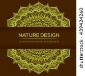 vector nature decor for your... | Shutterstock .eps vector #439424260