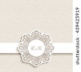 vintage greeting card with... | Shutterstock .eps vector #439425919