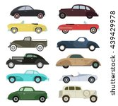 retro cars icons set vintage... | Shutterstock .eps vector #439429978