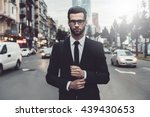 confident businessman.... | Shutterstock . vector #439430653