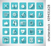fitness icons set. | Shutterstock .eps vector #439431628