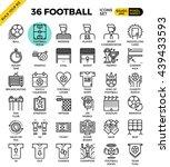football   soccer outline icons ... | Shutterstock .eps vector #439433593