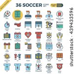 football   soccer outline icons ... | Shutterstock .eps vector #439433596