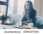 staying in touch. confident... | Shutterstock . vector #439437454
