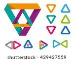 set of triangular modern frame... | Shutterstock .eps vector #439437559