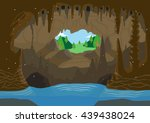 an illustration of a cave with... | Shutterstock .eps vector #439438024